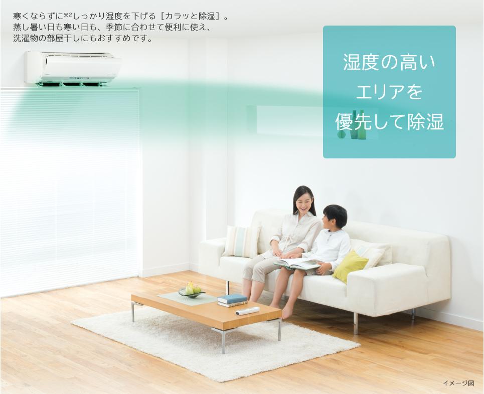 特長カラッと除湿 エアコン 日立の家電品