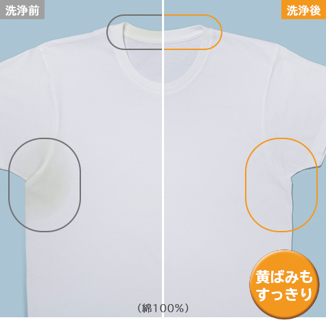 黄ばみ(綿100%)